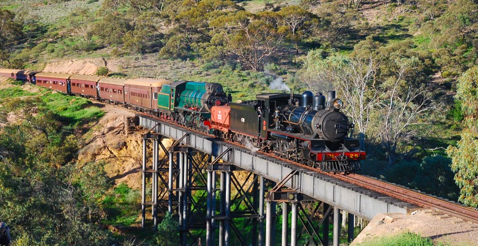 NM25 and W916 on Woolshed Flat bridge - 40th anniversary